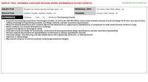 Resume Tool Tool Drawing Checker Resume Sample