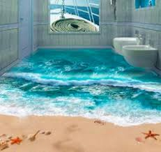 custom photo floor 3d wallpaper modern art river stones bathroom