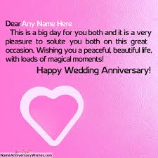 Happy Wedding Anniversary Wishes For Wedding Anniversary Wish For Friend With Name