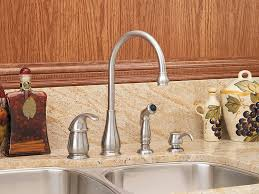 Premium Kitchen Faucets Pfister Lg264dss Treviso 1 Handle Kitchen Faucet With Side Spray