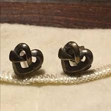 avery stud earrings avery jewelry avery heart knot stud earrings poshmark