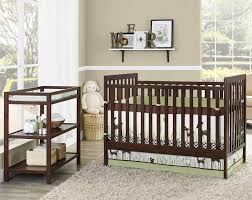 crib with attached changing table and drawers chest of drawers