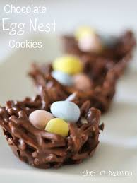 easter desserts no bake chocolate egg nest cookies chef in training
