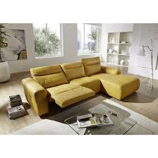 canape jaune cuir canape cuir relax electrique topiwall