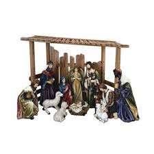 56 in outdoor nativity set with creche 12 piece 97000 the