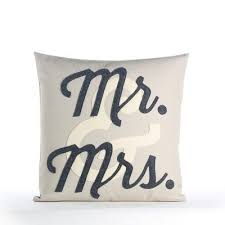 mr and mrs pillow mr mrs pillow 16 x 16 antique white and charcoal