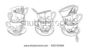 tea party vector set download free vector art stock graphics