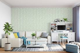 removable wallpaper for renters self adhesive chevron green weaving braids removable wallpaper
