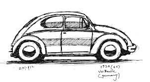volkswagen bug drawing sankalp sinha sketches