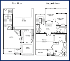small two story house floor plans cottage house plans 2 story plan architecture design blueprint