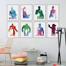 art home decor super hero poster wall art home decor no frame unregiftable com