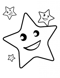 star shape coloring page qlyview com