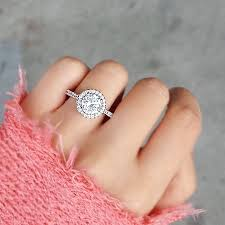 circle engagement ring halo circle engagement ring on the hunt