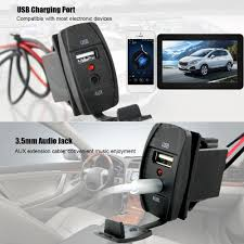 Usb Port For Car Dash Car Usb Port 3 5mm Jack Aux Extension Cable Mounting Panel Dash