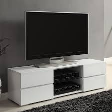 Furniture Design Of Tv Cabinet Shop Coaster Fine Furniture High Gloss White Tv Cabinet At Lowes Com