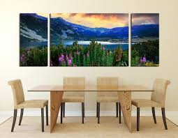 3 piece wall art landscape wall decor blue huge canvas print 3 piece canvas wall art dining room wall decor landscape multi panel canvas