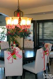 Christmas Dining Room Decorations - christmas dining room decor u0026 how to tie a simple bow design