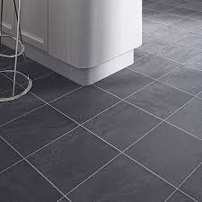 black slate tile effect laminate flooring for kitchens http
