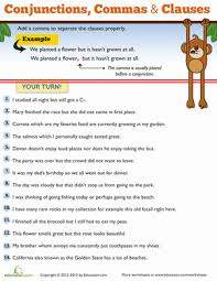 commas for kids worksheets third grade and punctuation