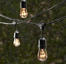 Outdoor String Patio Lights by Amazon Com String Light Company Bulb5015c Clear A19 String Light
