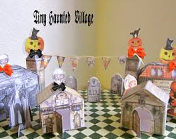 halloween village etsy