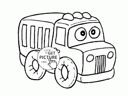 funny truck coloring page for preschoolers transportation