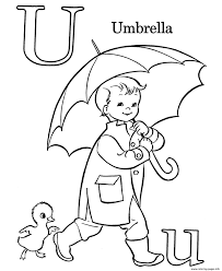 kid using umbrella alphabet s freea386 coloring pages printable