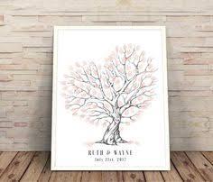 wedding fingerprint tree with swing a guest book alternative