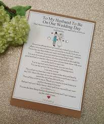 card to groom from on wedding day groom wedding day card personalised keepsake card on our