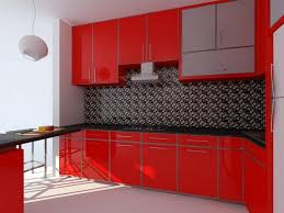 Red And Black Kitchen Cabinets by Kitchen Blue And Red Kitchen And Kitchen Decor Ideas As Charming