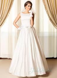 plain wedding dresses simply chic bateau neck plain satin wedding dresses 2204633