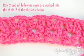 pattern of crochet stitches crochet cluster v stitch tutorial free crochet tutorial my merry