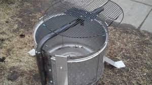 Making Fire Pit From Washer Tub - stylish stainless steel washer drum fire pit with grill youtube