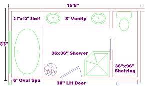 Small Bathroom Addition Master Bath by Master Bath 8x15 Ideas Floor Plan With Oval Spa And Shelf Large