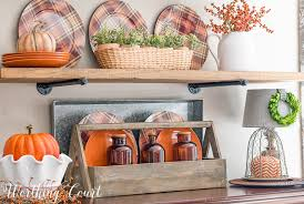 kitchen shelves decorating ideas these are my most favorite fall kitchen shelves worthing court