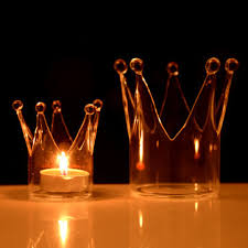 Candle Light Dinner Crown Glass Candle Holder Candelabrum Candle Stick Candle Light