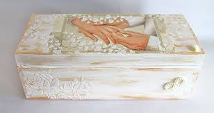 Decoupage Box Ideas - wedding gift wedding money box keepsake box wedding