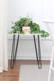 how to build a marble side table with hairpin legs the diy playbook