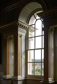 home design palladian window with modern wainscoting for