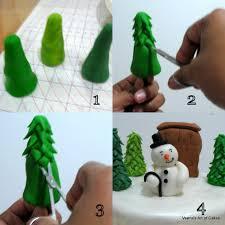 veena u0027s art of cakes my christmas cake with gumpaste snowman