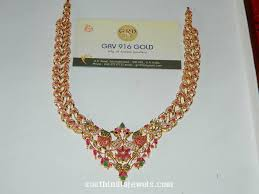 gold stone necklace images Gold stone peacock necklace model necklace collections jpg