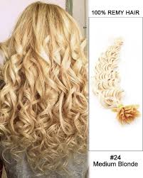 16 u201d 24 medium blonde straight nail tip u tip 100 remy hair