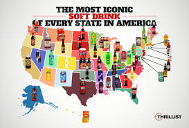 9 Funny Maps Of Virginia by Best Soft Drink In Every State Best Soda In Every State Thrillist