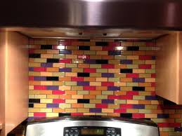 multi color kitchen ideas this custom designed multi colored subway tile