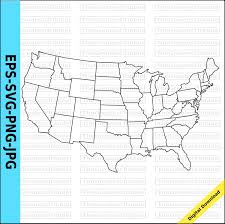 us map outline eps us map united states map state outlines transparent