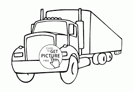 eighteen wheeler truck coloring page for kids transportation