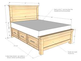 how to build a storage bed frame howtospecialist incredible queen