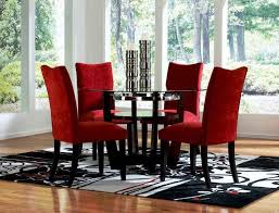 cheap glass dining room sets red dining room sets cheap round glass dining table and red chairs