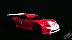 lexus lfa race car lexus lfa gt1 lexus car detail assetto corsa database