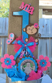 Baby Monkey Centerpieces by 25 Best Monkey Birthday Party Images On Pinterest Birthday